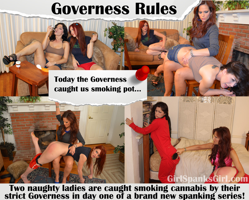 "Girl Spanks Girl (F/f): ""GOVERNESS RULES"" DAY ONE spanking"
